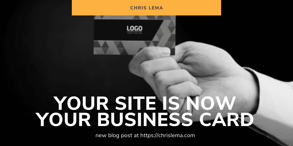 your website is your business card