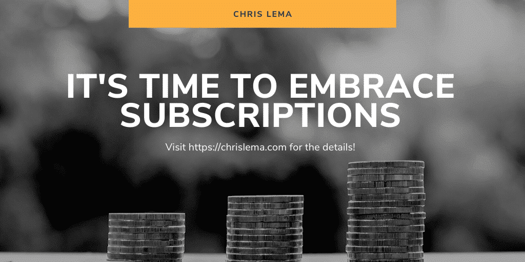subscription business model title image